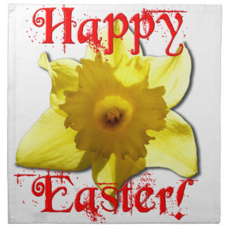Happy Easter, 02.T Daffodils Napkin