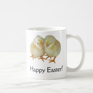 Happy Easter - 2 Cute Yellow Basque Chicks Coffee Mug