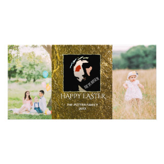Happy Easter 2 Photos | Christian He Is Risen Photo Card