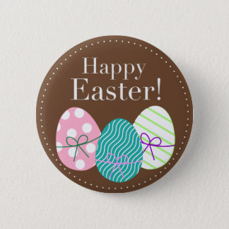 Happy Easter 6 Cm Round Badge