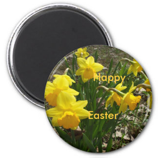 Happy Easter 6 Cm Round Magnet