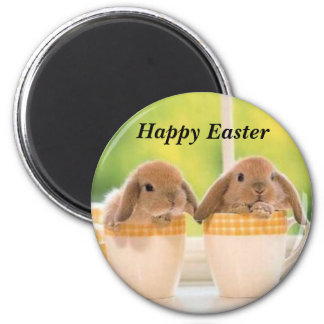 Happy Easter 6 Cm Round Magnet