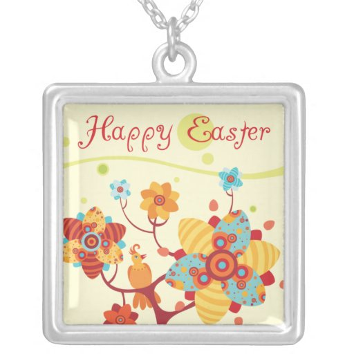 Happy Easter - Abstract Tree Pendants