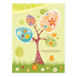 Happy Easter - Abstract Tree Postcards