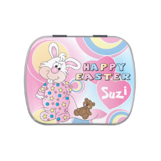 Happy Easter Adorable Bunny Jelly Belly Tins