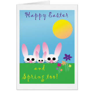 Happy Easter and Spring Greeting Card