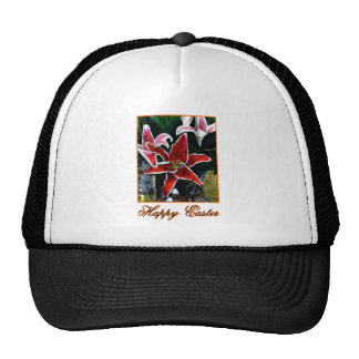Happy Easter b Orange Tiger Lily The MUSEUM Zazzle Mesh Hat