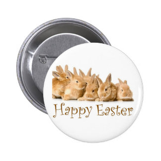 Happy Easter baby bunnies Pinback Button