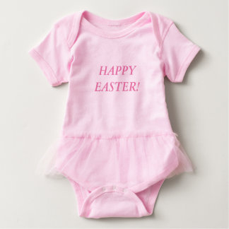 HAPPY EASTER! Baby Tutu Bodysuit (Pink)