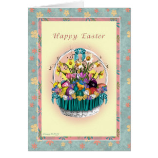 Happy Easter Basket Greeting Card