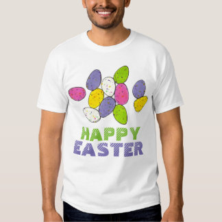 Happy Easter Basket Malted Milk Candy Egg Eggs Tee