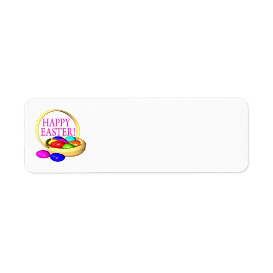 Happy Easter Basket Return Address Label