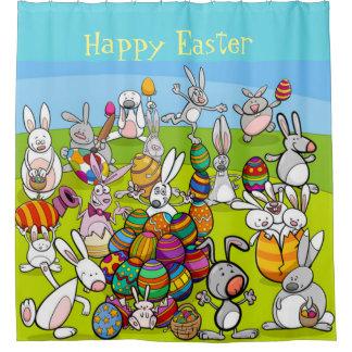 Happy Easter Big Egg Hunt Shower Curtain