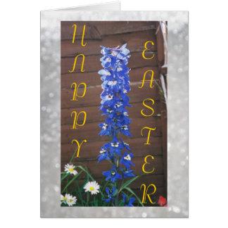 Happy Easter - Blue Dephinium Card