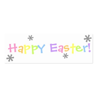 Happy Easter!  Bookmark Business Cards