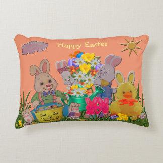 Happy Easter Buddies Decorative Cushion