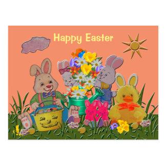 Happy Easter Buddies Postcard