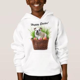 Happy Easter bulldog Kids Hooded Sweatshirt
