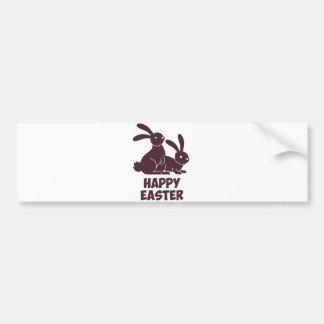 Happy Easter Bunnies Bumper Sticker