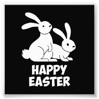Happy Easter Bunnies Photograph