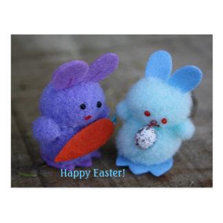 Happy Easter Bunnies Postcard
