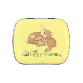 Happy Easter Bunnies Jelly Belly Candy Tin