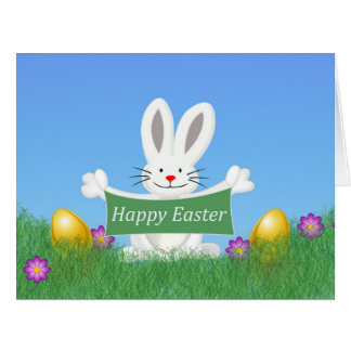 Happy Easter Bunny Big Greeting Card