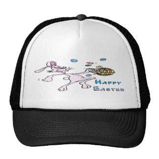 Happy Easter Bunny Mesh Hats