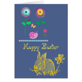Happy Easter Bunny Card for a cool modern look!