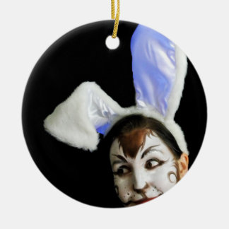 Happy Easter Bunny Ornaments