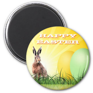 HAPPY EASTER - Bunny & Eggs Magnet
