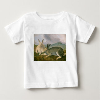 Happy Easter Bunny Hare Couple Watercolor Vintage Baby T-Shirt