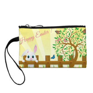 Happy Easter bunny illustration Coin Purse