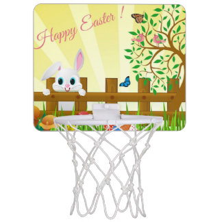 Happy Easter bunny illustration Mini Basketball Hoop