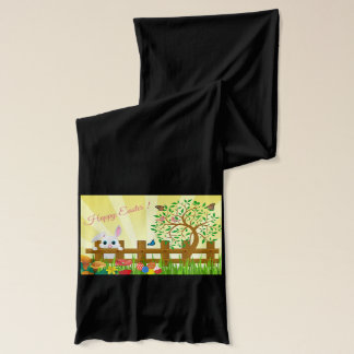 Happy Easter bunny illustration Scarf