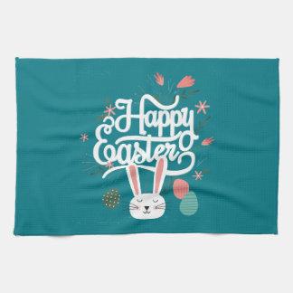 Happy Easter Bunny Kitchen Towel