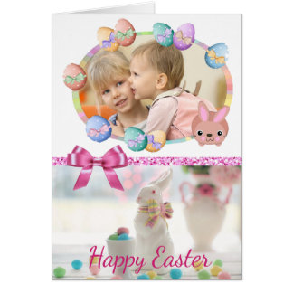Happy Easter Bunny Personalized Card