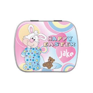 Happy Easter Bunny Rabbit Jelly Belly Tins