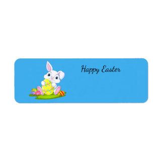 Happy Easter Bunny Return Address Label