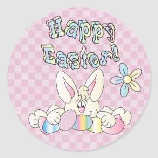 Happy Easter Bunny Round Sticker