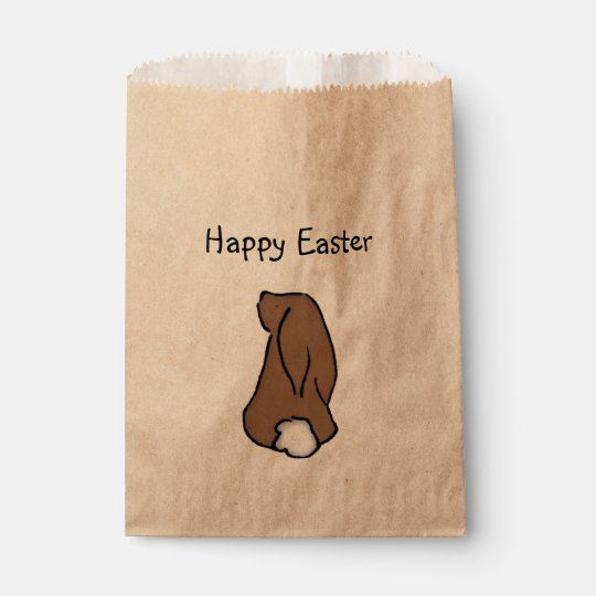 Happy Easter Bunny Treat Bag Favour Bags