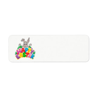 Happy Easter Bunny With text Return Address Label