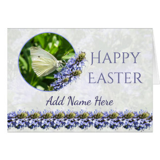 Happy Easter Butterfly Custom Greeting Card