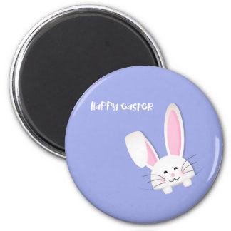 Happy easter! button 6 cm round magnet