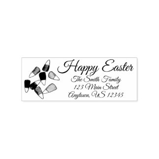 Happy Easter Candy Corn Candies Foodie Address Rubber Stamp