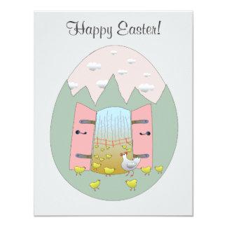 Happy Easter Card 11 Cm X 14 Cm Invitation Card