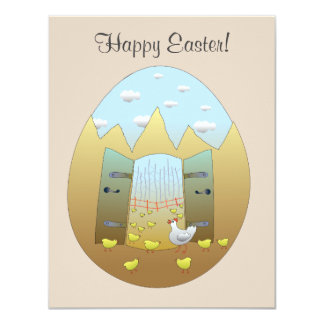 Happy Easter Card 11 Cm X 14 Cm Invitation Card