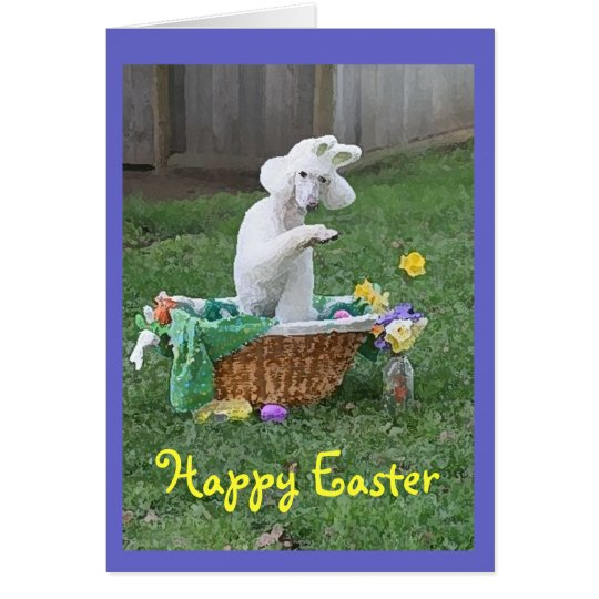 Happy Easter card from Winnie the Poodle