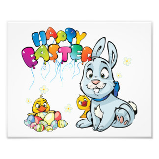 Happy Easter Cartoon Photographic Print