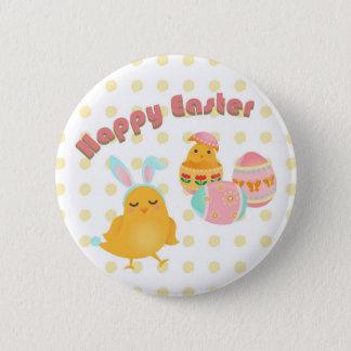 Happy Easter Chich Bunny Design Botton 6 Cm Round Badge